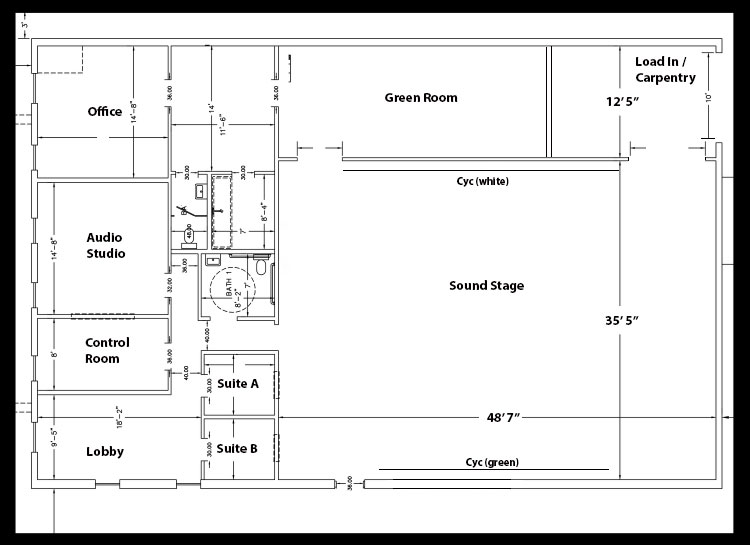 Map of Ignite Studios facility