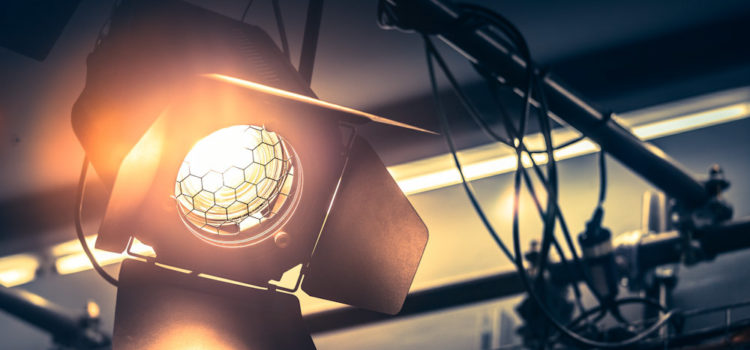 Professional studio light at production studio.