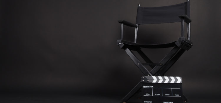 Actors chair in professional video studio